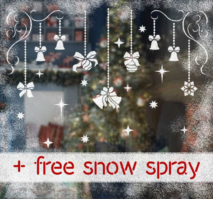 Christmas Toys Stencils Kit for windows decor. Comes with a free removable snow spray.