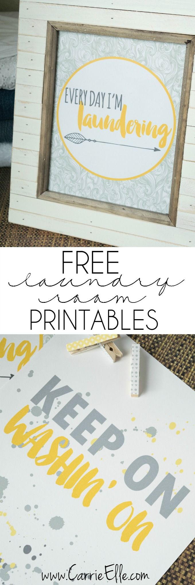 Free laundry room printables and 5 laundry room accessories every laundry room needs!