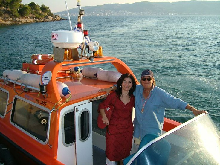 My personal friend and boat-taxi owner, Matina in Spetses, greek island.