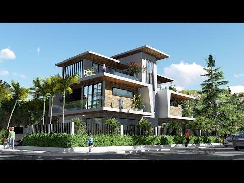 Sketchup Modeling Modern Vila Design 06 + Lumion Render