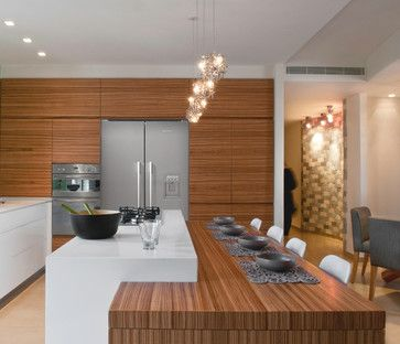 2 height counter contemporary penthouse modern-kitchen