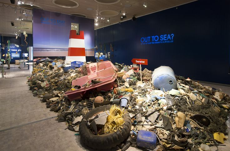 Out to Sea; Hawaii to Klitmøller. Exhibition at Trapholt, 2013 Plastic Garbage Project by Museum fur Gestaltung Zurich. Design: V. Westergaard