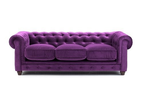 Deep Purple Velvet Chesterfield Seat Sofa Sylvester Oxford Ltd Amazon