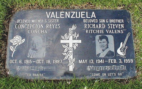 "On Saturday, February 7, (""RITCHIE VALENS"") body was taken ..."