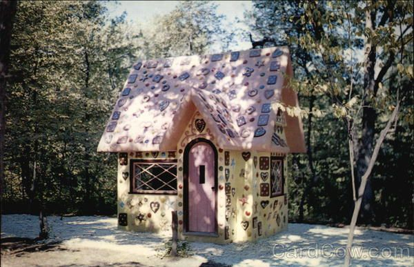Gingerbread House, Fairy-Tale Forest Oak Ridge New Jersey. Oak Ridge NJ is my hubby's hometown - he never told me they have a fairytale forest!!