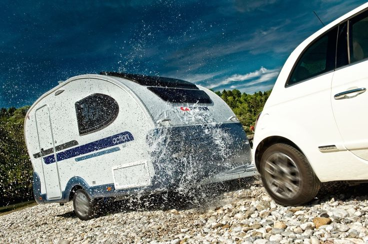 Caravan Adria Action 361 LH (2013) with Fiat 500 #camping #fiat500