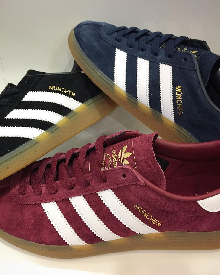 @adidasoriginals Munchen - 3 colours are available in store now and online soon priced 75.  #adidas #adidasoriginals #munchen #munich #threestripes #trainers #sneakers #casuals #igsneakercommunity #igsneakers #SS17 #newseason #philipbrownemenswear