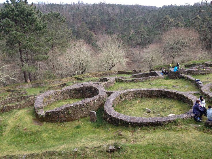 Spain, Celtic hill-fort in Borneiro / Castro de Borneiro en Cabana de Bergantiños, provincia de A Coruña...