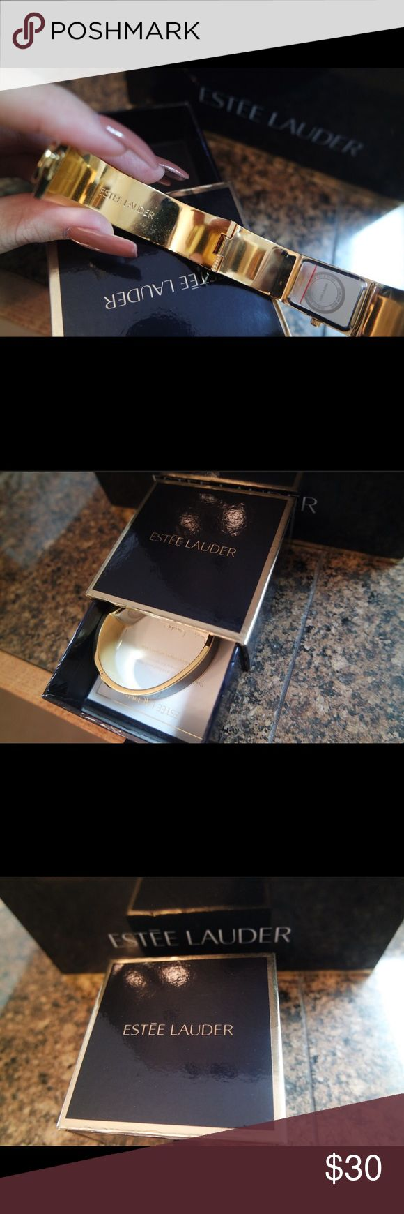 Estée Lauder 💙Collectors Watch BRAND NEW, NEVER USED!  This item is brand new and I received it as a gift while I was working for Lauder in 2014! I'm listing it at $30 but feel free to MAKE ME AN OFFER!  100% Authentic ❗️ PERFECT for the Estée Lauder collector!  When shipped, you will receive the Estée Lauder Collectors Watch with its original packaging you see in the photos!   Please feel free to ask questions! 😊💕 Estee Lauder Jewelry