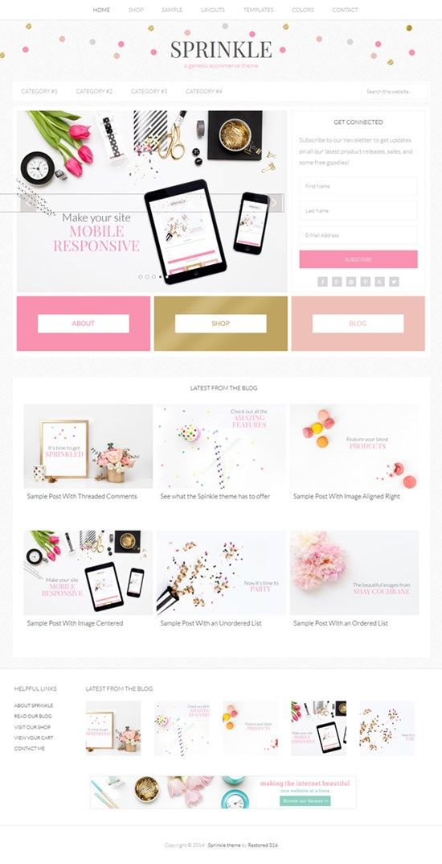 Sprinkle   Feminine WordPress Theme