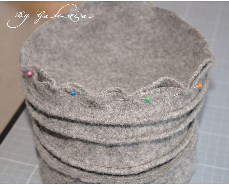Chapeau laine bouillie