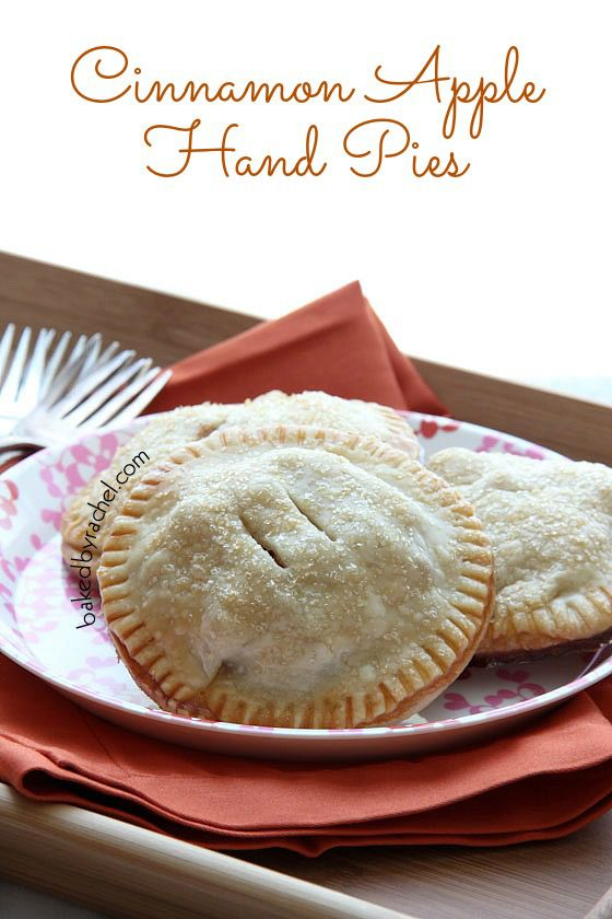 Cinnamon Apple Hand Pies Recipe from bakedbyrachel.com - we'll be ready for winter with these beauties!