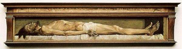 ハンス・ホルバイン「墓の中の死せるキリスト」(1521-22)