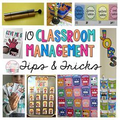 10 positive classroom management tips and tricks to get your classroom running smoothly in positive ways. Includes many free resources and product ideas.