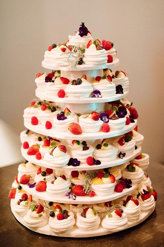 Mini meringue and pavlova Summer Wedding cake