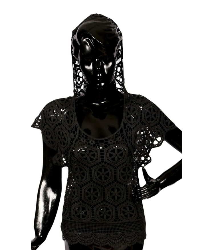 Black Top Style Hooded Shrug
