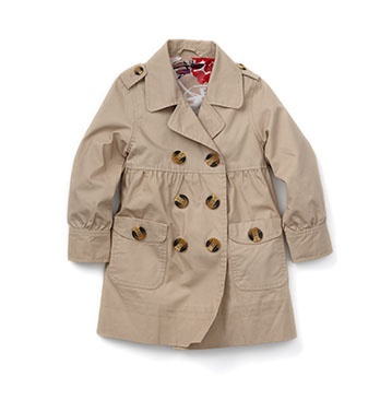 I've always been a sucker for cute trench coats....hey, why not put one on my daughter?
