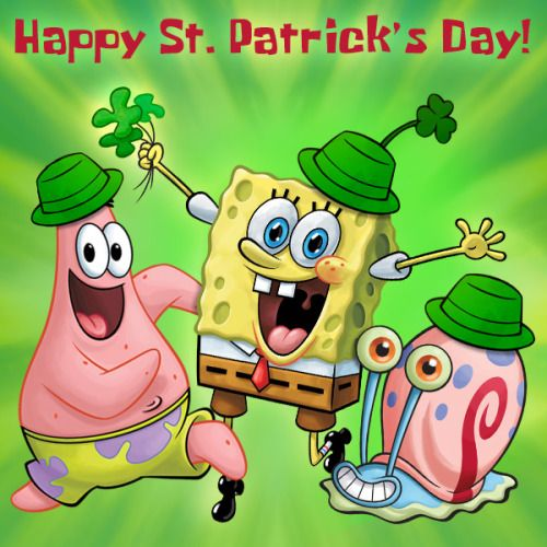 spongebob: Happy St Patrick's Day!