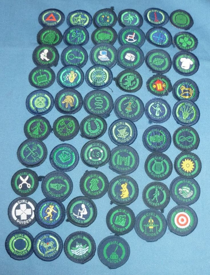 Vintage uk Girl Guide Second Class Badge Woven Green on ...