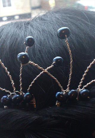 Freshwater Pearl and Swarovski Crystal Hair Comb Facinator