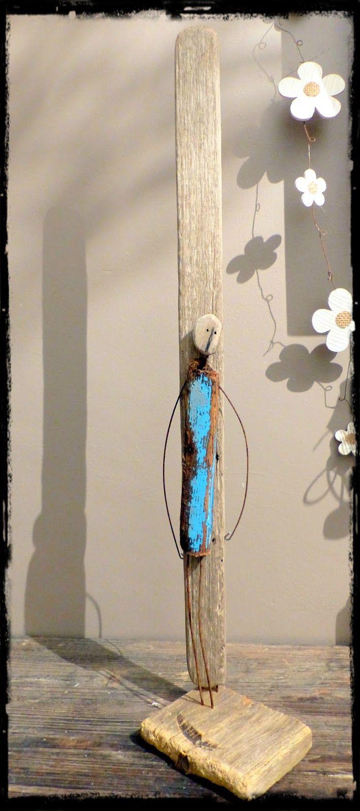 La petite combinaison bleue, Surf art, driftwood, bois flotté