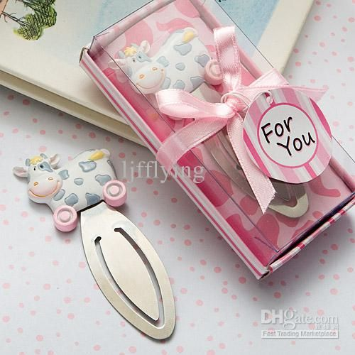 Pink Toy Cow Design Bookmark Favors Online with $0.67/Piece on Ljfflying's Store | DHgate.com