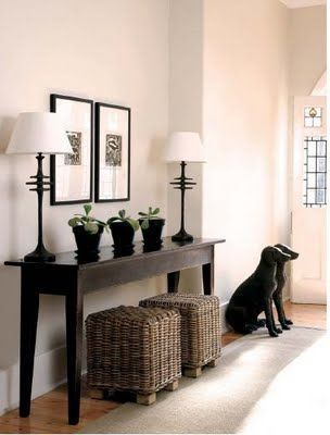 Entryway -- really want to spruce up mine to look a little similar to this. Beautiful and clean!