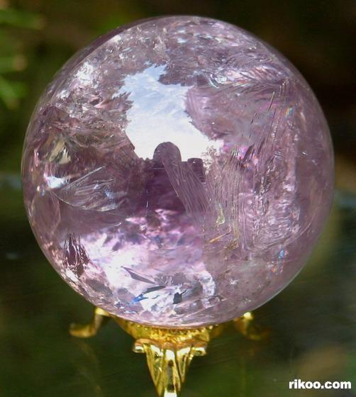 amethyst crystal ball | Amethyst Sphere, Quartz Crystal Ball, rainbows