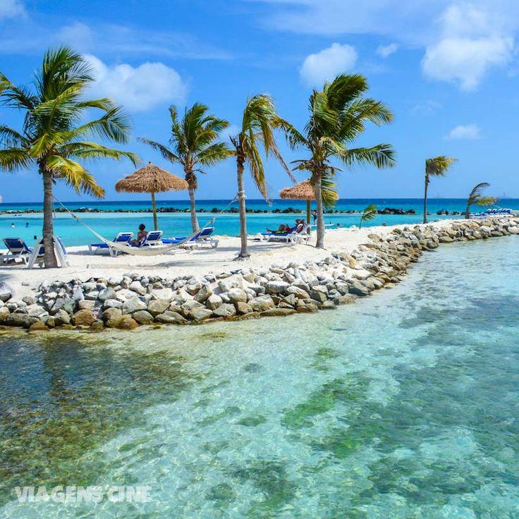 Renaissance Island em Aruba: essa ilha privativa do Hotel Renaissance é onde fica a Flamingo Beach, aquela praia onde os flamingos ficam circulando na praia. Incrível, mas Aruba tem muito mais coisa legal para ver