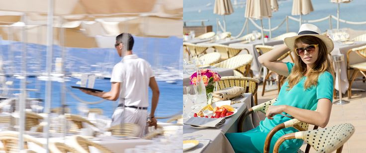 Beach restaurant, InterContinental Hotels Carlton Cannes -