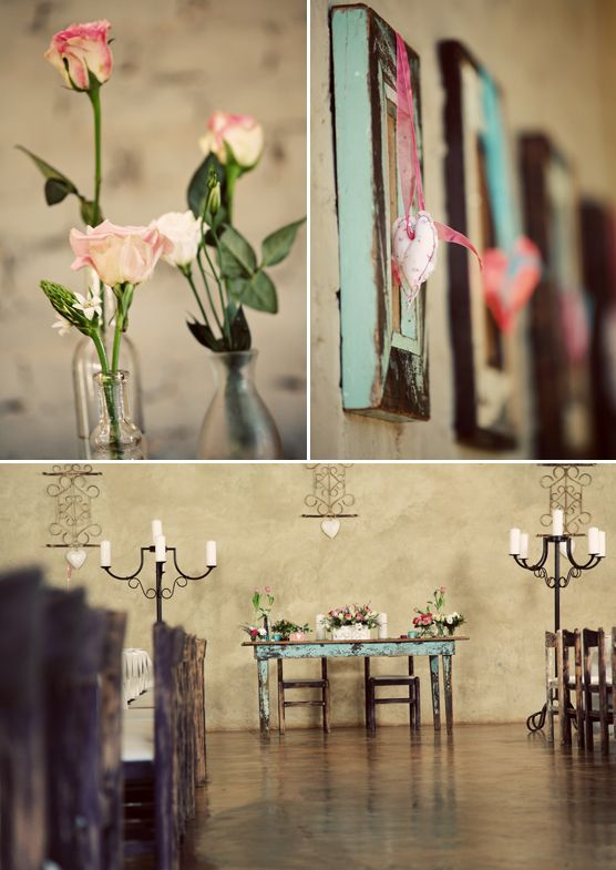 Imperfect Perfection in Pretoria. Simple and rustic, so it's the perfect backdrop for a vintage/shabby chic/country inspired wedding. Shot by Black Frame Photography