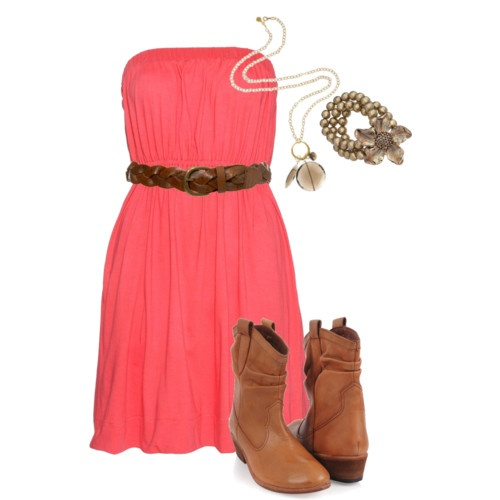 She's countryy!: Tall Boots, Color, Clothing, Bridesmaid Dresses, Outfit, Dresses With Boots, Cowboys Boots, The Dresses, Winter Dresses