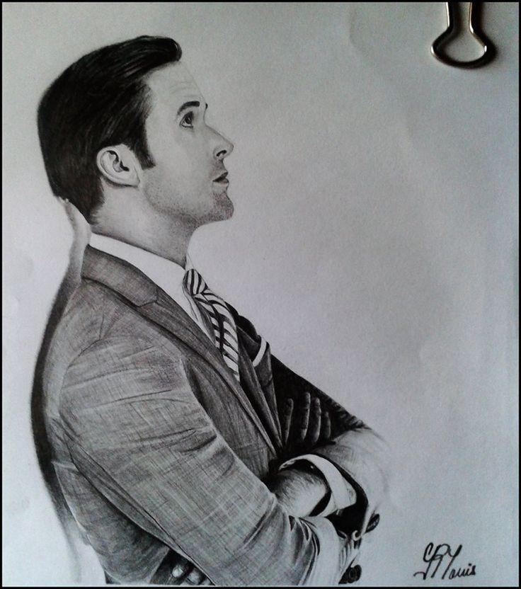 Portrait of Ryan, by Geromorris #RyanGosling