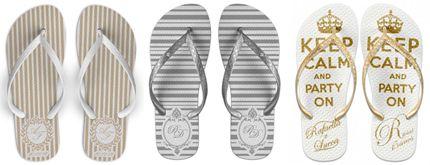 PROMOÇÃO IMPERDÍVEL! Sandálias Personalizadas para Casamento, Formaturas, 15 Anos, Festa Infantil e muito mais! Apenas R$ 3,99 o par!