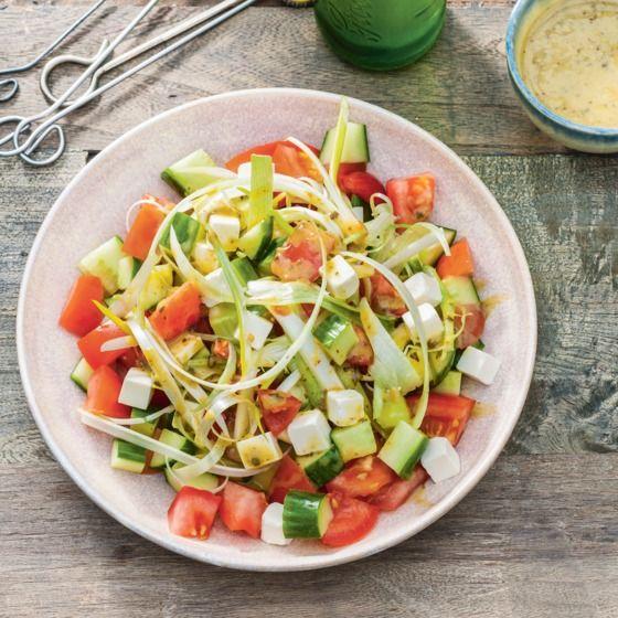 Makkelijke BBQ-salade met pestodressing