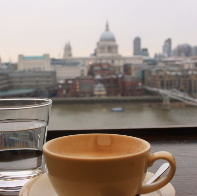 Hot chocolate with a London view