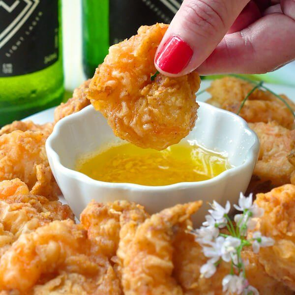 Southern Fried Shrimp with Garlic Butter