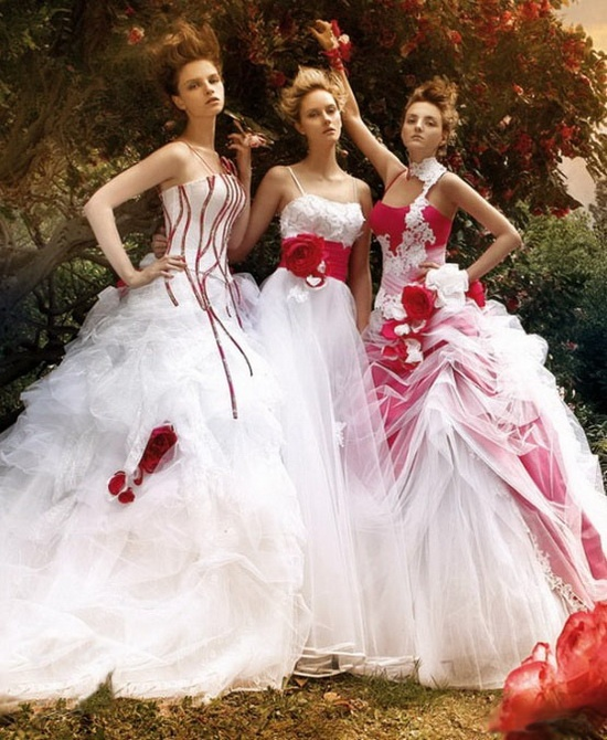 13 best Hot Peace - Red-White Wedding Gowns images on Pinterest ...