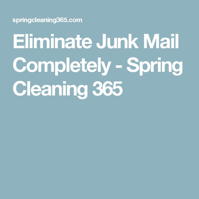 Eliminate Junk Mail Completely - Spring Cleaning 365