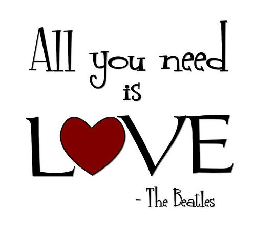 """All You Need Is Love"" Word-Art Freebie"