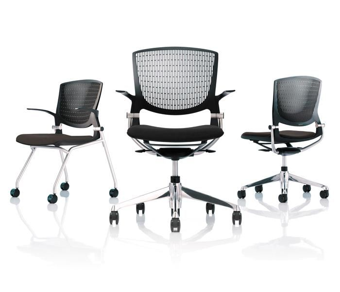 Grata | UCI Task chair, by Okamura in Japan. Designed by Ryo Igarashi. Available as a nesting or swivel chair. Greenguard certified. uci.com.au