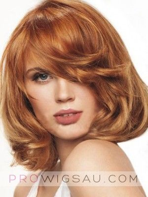Bob Hairstyle Lovely Medium Wavy Lace Wig