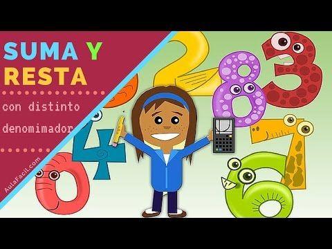 Curso gratis de Matemáticas Quinto Primaria (10 años) - Suma y Resta de Fracciones | AulaFacil.com: Los mejores cursos gratis online