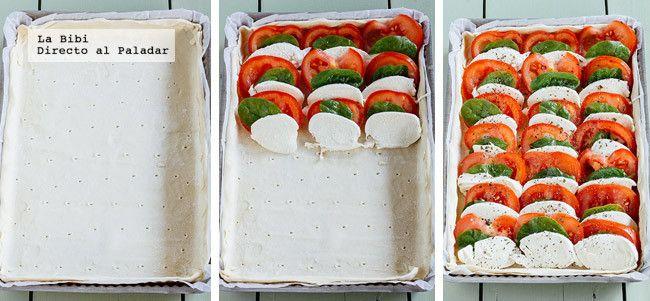 Tarta Caprese espinaca