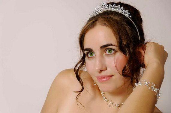 Bridal Tiara Wedding Headband Bridal Hair by glamourbysonja