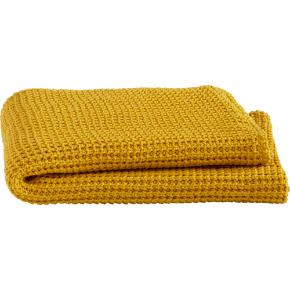 Mustard yellow throw for the bedroom. I'd like one with a bit more texture even than this, such as a cable knit.