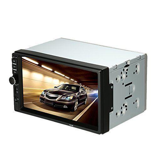 KKmoon 7 Pouces Autoradio 2 Din HD Bluetooth Voiture Stéréo FM Radio MP5 Lecteur USB/TF Aux Entrée écran Tactile Système de Divertissement:…