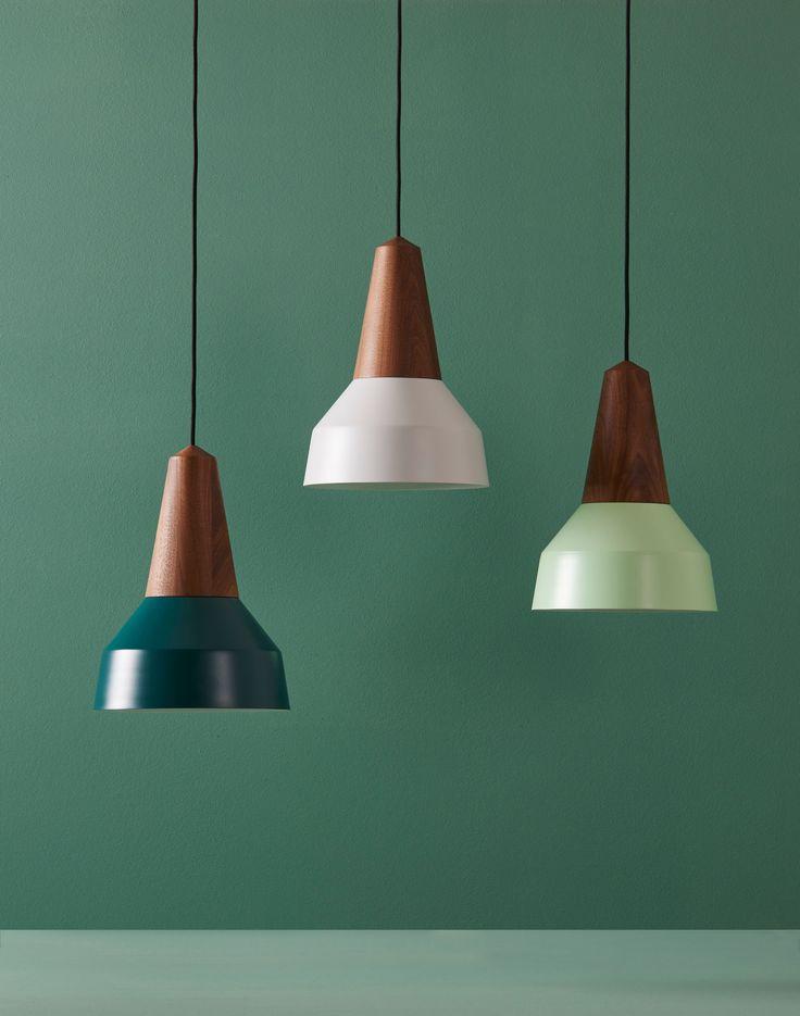 Eikon Basic 'Forest Green', 'Nacre Grey' & 'Mint' with walnut wood