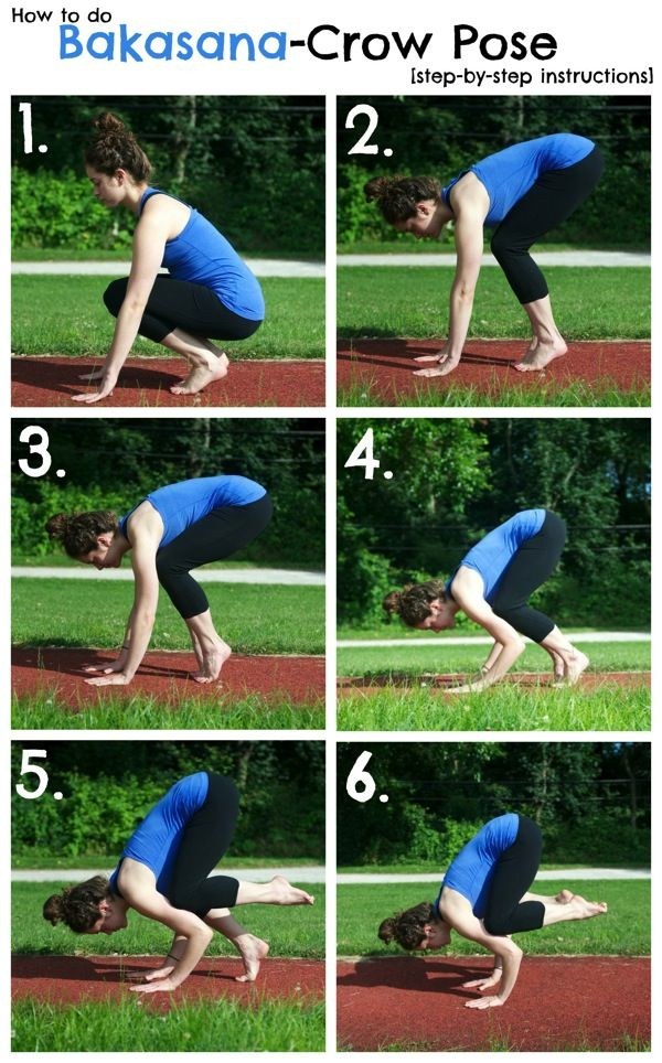 Started working on this today - need to strengthen arms to hold! (and to do it more than once without falling over) How to Do Crow Pose-The Almond Eater