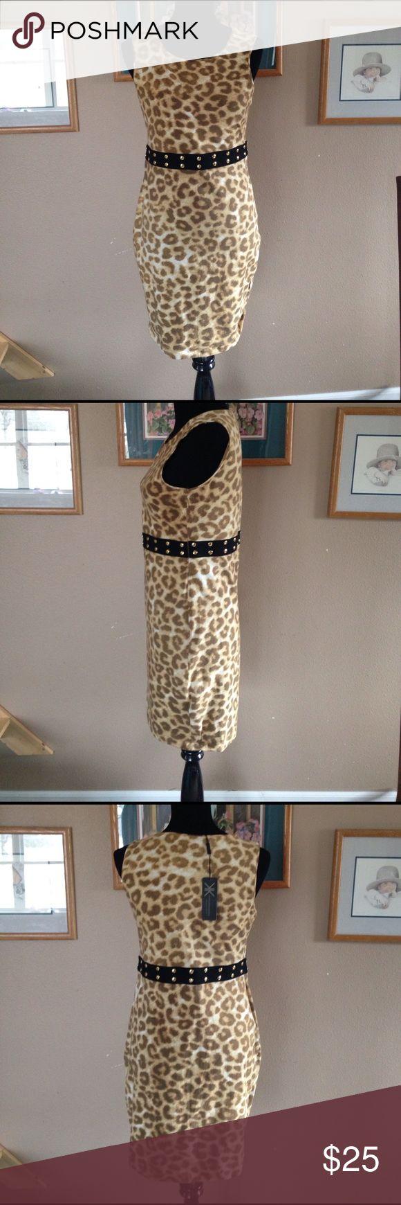Kardashian Kollection Dress Kardashian Kollection graffiti giraffe stud dress. Size zip, NWT. Does have a small hole near the zipper. Kardashian Kollection Dresses